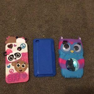 Set of 3 iPod 4 cases